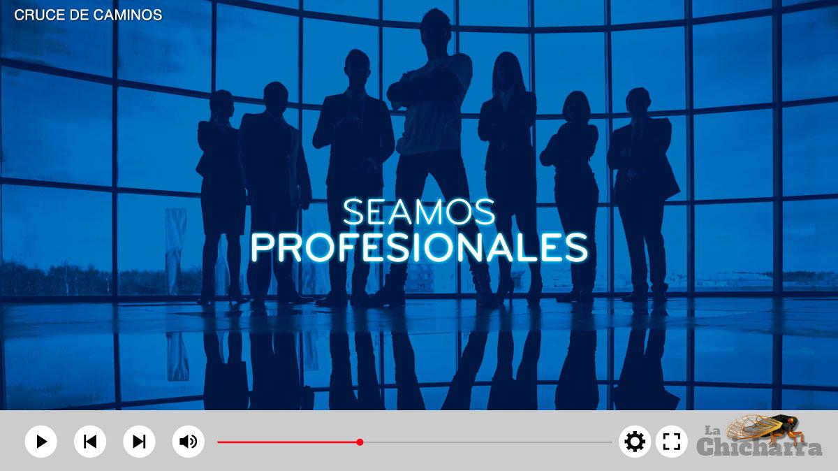 Cruce de caminos: Seamos profesionales