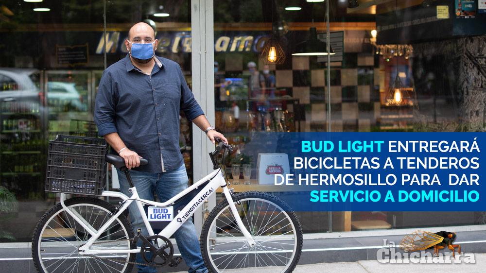 Bud Light entregará bicicletas a tenderos de Hermosillo para dar servicio a domicilio