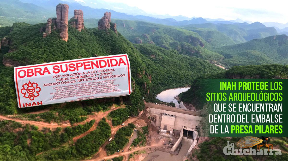 INAH protege los sitios arqueológicos que se encuentran dentro del embalse de la Presa Pilares