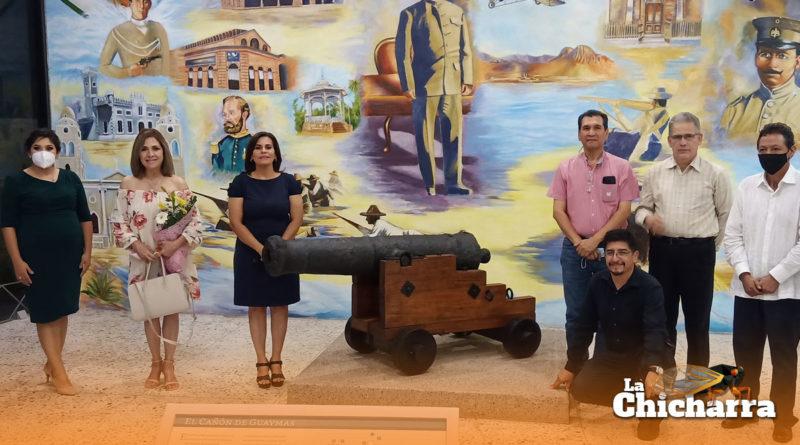 Realizan ceremonia oficial de entrega del cañón histórico, patrimonio de Sonora